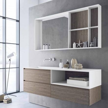 Složení koupelnového nábytku, moderní a pozastavený design vyrobený v Itálii - Callisi8