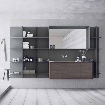 Složení zavěšeného a moderního koupelnového nábytku, designový nábytek - Callisi12