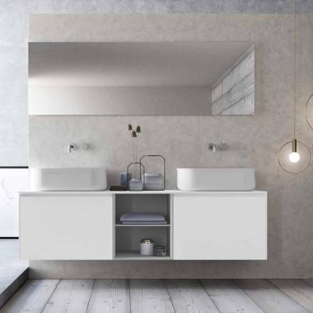Moderní designová závěsná koupelnová kompozice vyrobená v Itálii - Callisi14