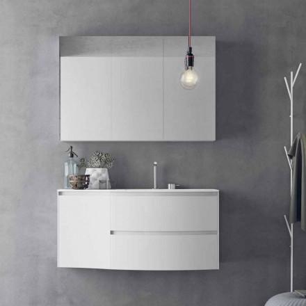 Moderní a zavěšená koupelnová kompozice vyrobená v Itálii - Callisi7