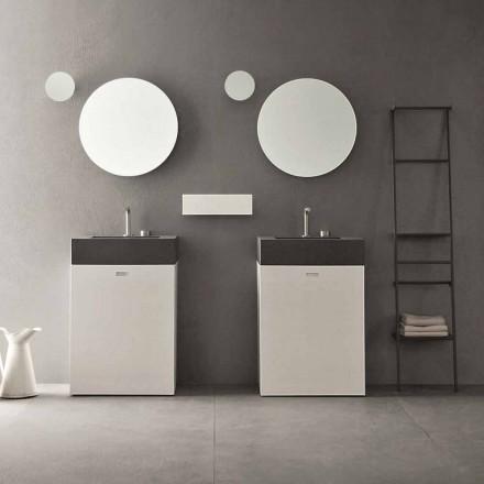 Složení podlahy moderního designového koupelnového nábytku - Farart10