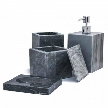Složení mramorové koupelnové doplňky vyrobené v Itálii, 4 kusy - Deano