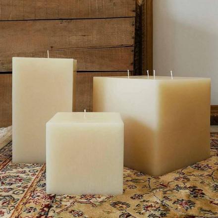 Složení Svíčky čtvercového vosku vyrobené v Itálii, 3 kusy - Mondelle