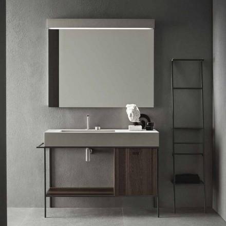 Složení ručně vyráběného nábytku pro moderní designovou koupelnu na zemi - Farart3