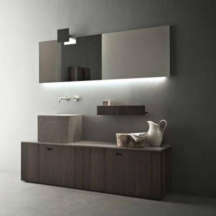 Složení moderního designového podlahového koupelnového nábytku - Farart1
