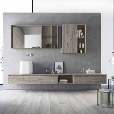 Složení moderního koupelnového nábytku, pozastavený design vyrobený v Itálii - Callisi6