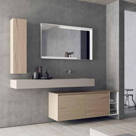 Složení moderního a zavěšeného koupelnového nábytku, design v Itálii - Callisi1