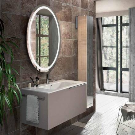 Složení závěsného koupelnového nábytku v designu Janov