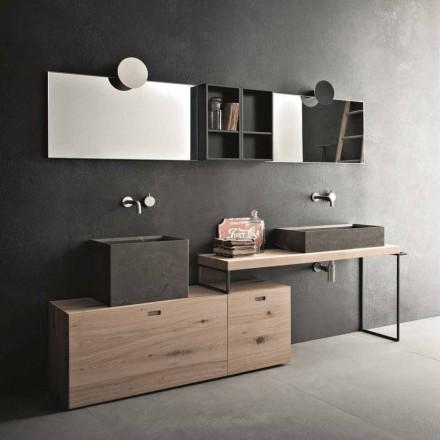 Složení moderní koupelny se zemním designovým nábytkem vyrobeným v Itálii - Farart6