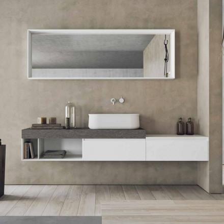 Moderní a pozastavená kompozice designového koupelnového nábytku - Callisi2