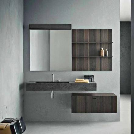 Složení pro závěsnou koupelnu a moderní design vyrobený v Itálii - Farart9