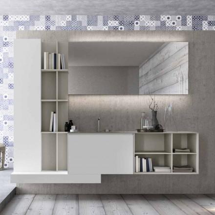 Složení zavěšeného koupelnového nábytku s moderním designem vyrobené v Itálii - Callisi15