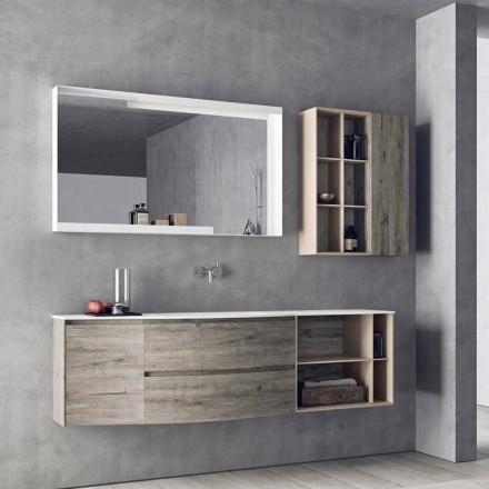 Pozastavená designová kompozice, moderní designový koupelnový nábytek - Callisi5