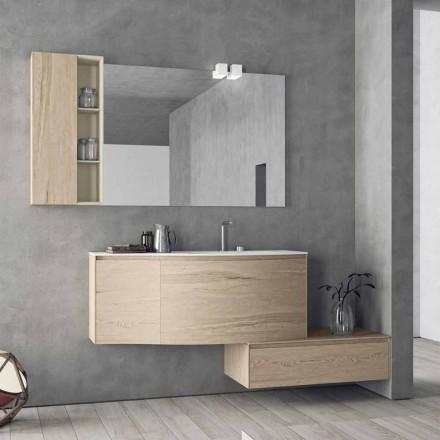 Závěsná a moderní kompozice pro koupelnu, design Made in Italy - Callisi4