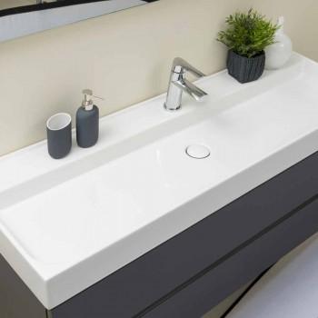 Složení pozastavený koupelnový nábytek v MDF Vyrobeno v Itálii - Becky