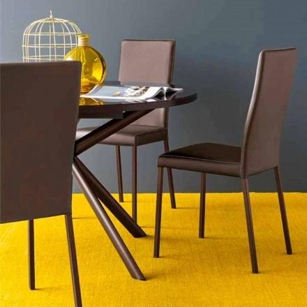 Connubia Calligaris Garda Moderní židle v látce a kov, 2 ks
