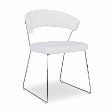 Connubia New York Calligaris židle v moderním designu kůže, 2 ks