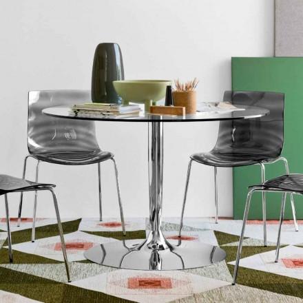 Connubia Calligaris Planet kulatý stůl Modern o průměru 120 cm, sklo
