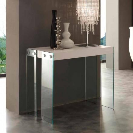 Konzola Rozšiřitelná moderní design s nohama slečna tvrzeného skla