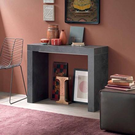 Výsuvná konzola na stůl až 290 cm s dřevěnou deskou vyrobené v Itálii - Seregno