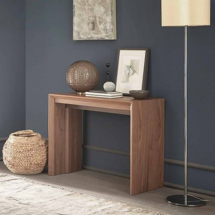 Výsuvná konzola na stůl až 295 cm ve dřevě vyrobeném v Itálii - Temocle
