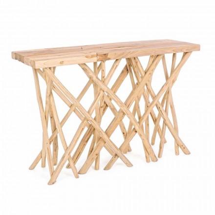 Vstupní konzole z přírodního teakového dřeva v elegantním moderním designu - Bilva