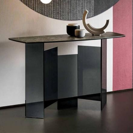 Design konzole obývacího pokoje v keramice a skle Made in Italy - Random