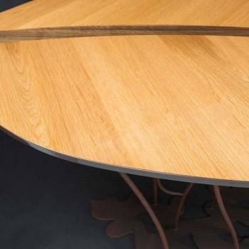 Konzole design a řemeslná dubová dýha ořech Fenice