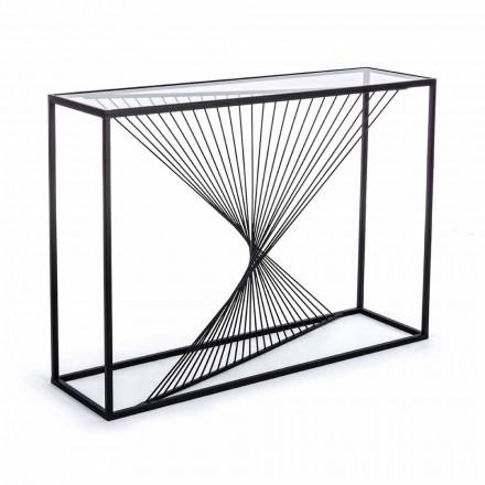 Konzole z oceli a skla Moderní design Originální spirála - Sasuke