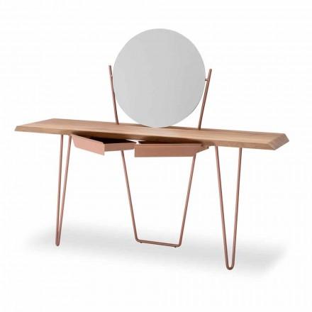 Moderní dřevěná a kovová konzola vyrobená v Itálii - Coseno Plus