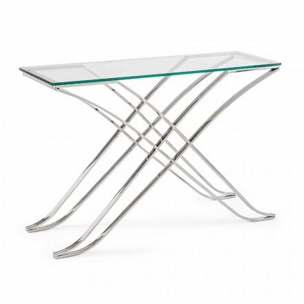 Konzole z tvrzeného skla a ocelové základny Moderní design Homemotion - Zafira