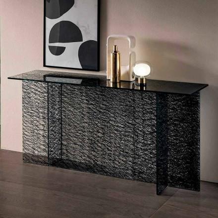 Designový vstupní konzola v dekorativním skle vyrobeném v Itálii - Sestola