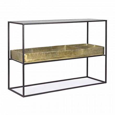 Moderní a elegantní designová konzole z oceli a skla Homemotion - Malpensa