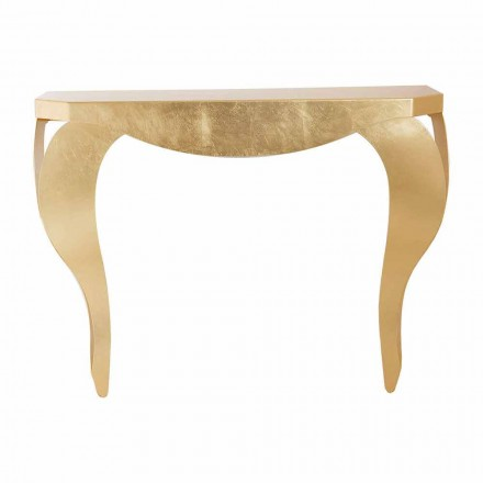 Moderní konzole v železném listu zlato nebo stříbro vyrobené v Itálii - Daledale