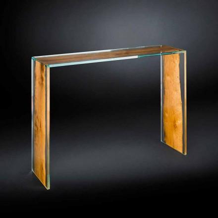 Konzola moderního skla a dřeva Venice benátské Briccola