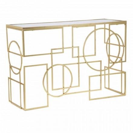 Obdélníková konzola pro moderní design v železo a zrcadlo - Billie