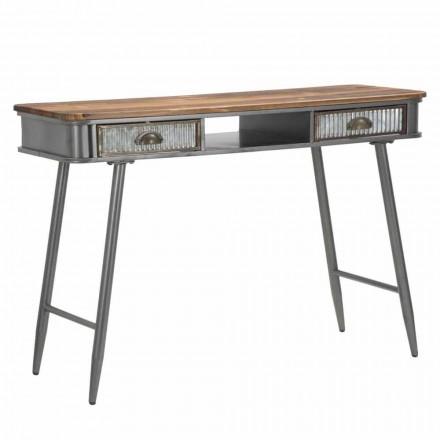 Průmyslový design konzole na železo a dřevo - Ermo