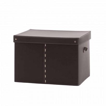 Moderní úložný box v regenerované kůži Made in Italy - Gabry