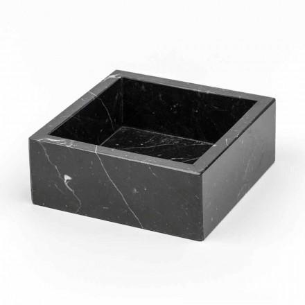 Čtvercový kontejner z mramoru Carrara nebo Marquinia Vyrobeno v Itálii - Torre