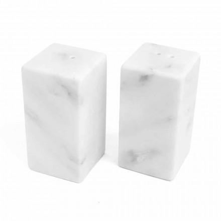 Kontejnery na sůl a pepř z bílého mramoru Carrara Vyrobeno v Itálii - Julio