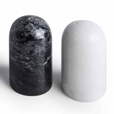 Kontejnery na sůl a pepř v Carrara a Marquinia Marble Vyrobeno v Itálii - Xino