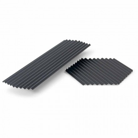 Dvojice vaniček v černém nebo zlatém lakovaném ocelovém moderním designu - Savona