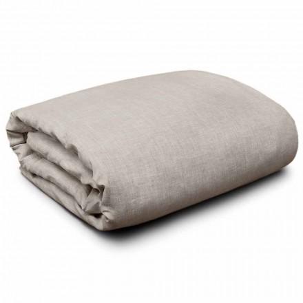 Povlečení v přírodním povlečení pro postele velikosti King, jednolůžkové a plné velikosti Made in Italy - Blessy
