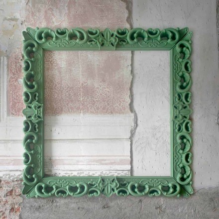 Barevný dekorativní stěnový rám Slide Frame Of Love, vyrobený v Itálii
