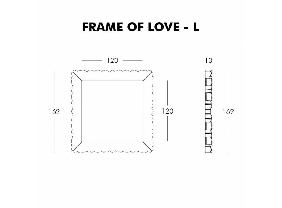 Slide Frame Of Love dekorativní nástěnný rám vyrobený v Itálii