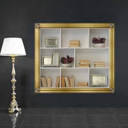 Nástěnná knihovna v gelotonovém dřevu vyrobená v Itálii Giulio