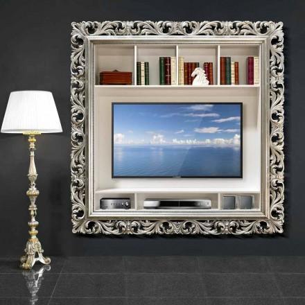 TV stěna rám ze dřeva ručně vyráběné v Itálii Mario