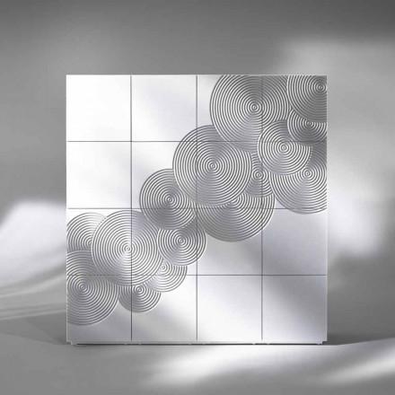 Příborník s 16 ante Slate moderní design, bílá, černá nebo zlato