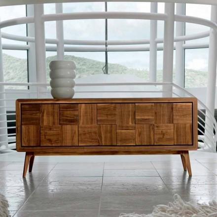 Skříň se 3 dveřmi v moderním designu pevného ořechového Nensi