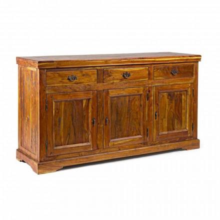 Příborník v klasickém designu v rustikálním provedení z masivního akáciového dřeva - Malajsko